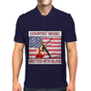 Country Music- Written With Blood Mens Polo