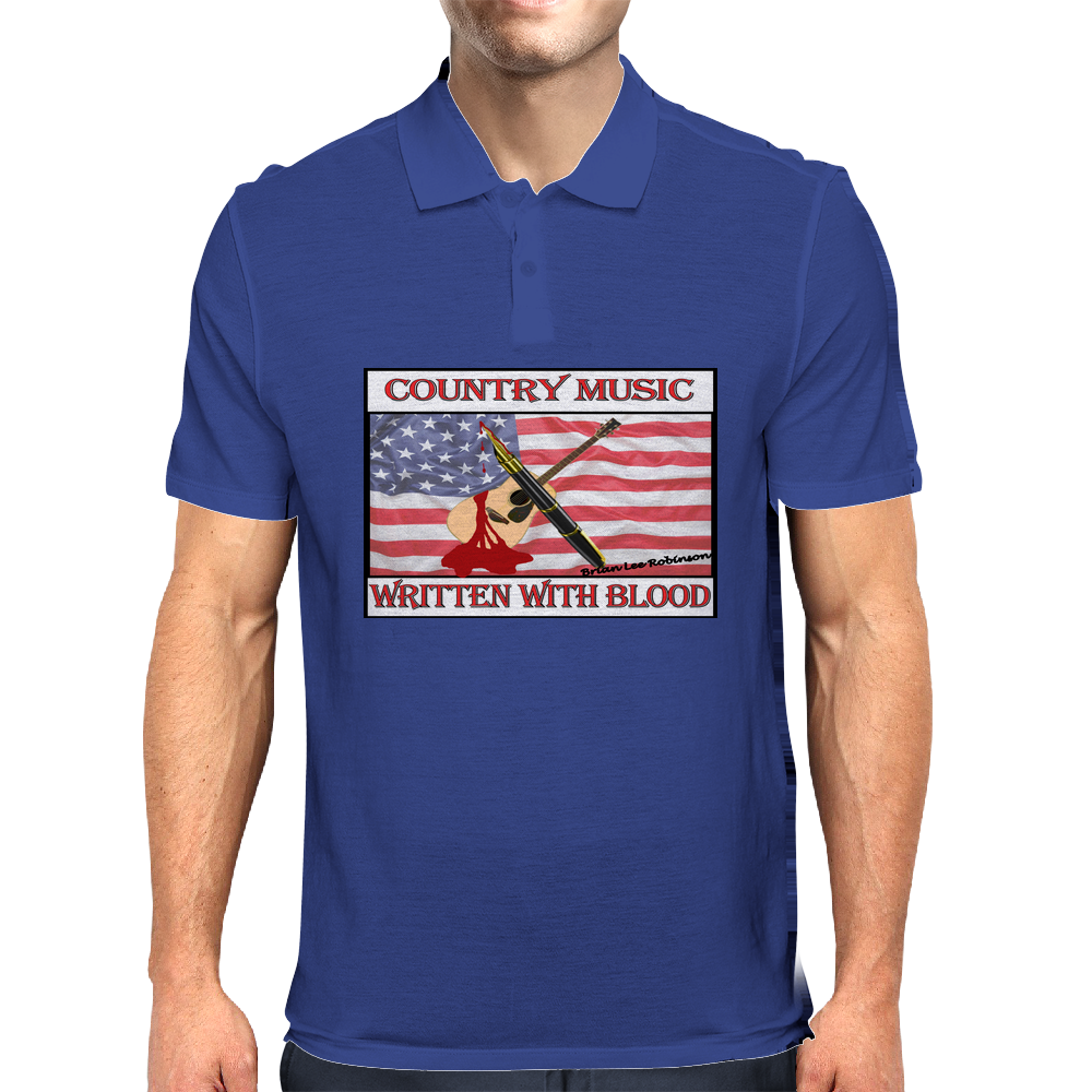 Country Music, Written With Blood Mens Polo