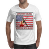 Country Music- Written With Blood Mens T-Shirt