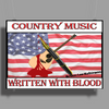 Country Music, Written With Blood Poster Print (Landscape)