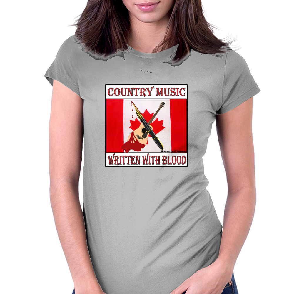 Country Music - Written With Blood Womens Fitted T-Shirt