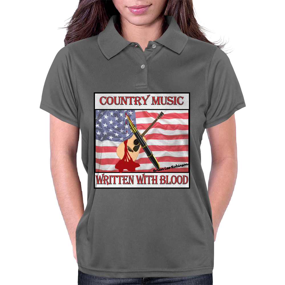 Country Music- Written With Blood Womens Polo