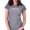 Cow Girl Logo - Light Pink Womens Fitted T-Shirt
