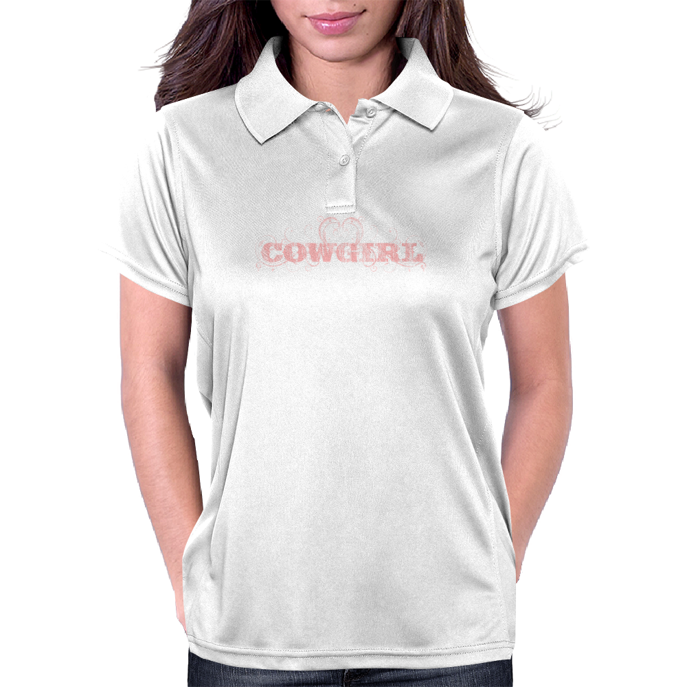 Cow Girl Logo - Light Pink Womens Polo