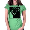 Cow Noir Womens Fitted T-Shirt