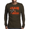 Crash & Burn Retro BMX T-shirt. Mens Long Sleeve T-Shirt