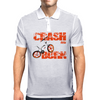 Crash & Burn Retro BMX T-shirt. Mens Polo