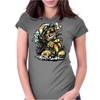 Crazy Biker Womens Fitted T-Shirt