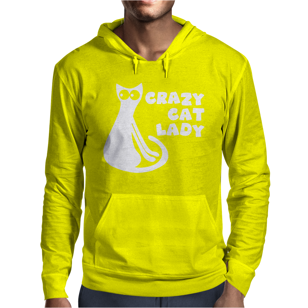 Crazy Cat Lady Mens Hoodie