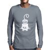 Crazy Cat Mens Long Sleeve T-Shirt