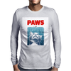 Crazy Cat Meow Paws Jaws Mens Long Sleeve T-Shirt