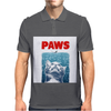 Crazy Cat Meow Paws Jaws Mens Polo