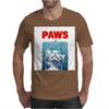 Crazy Cat Meow Paws Jaws Mens T-Shirt