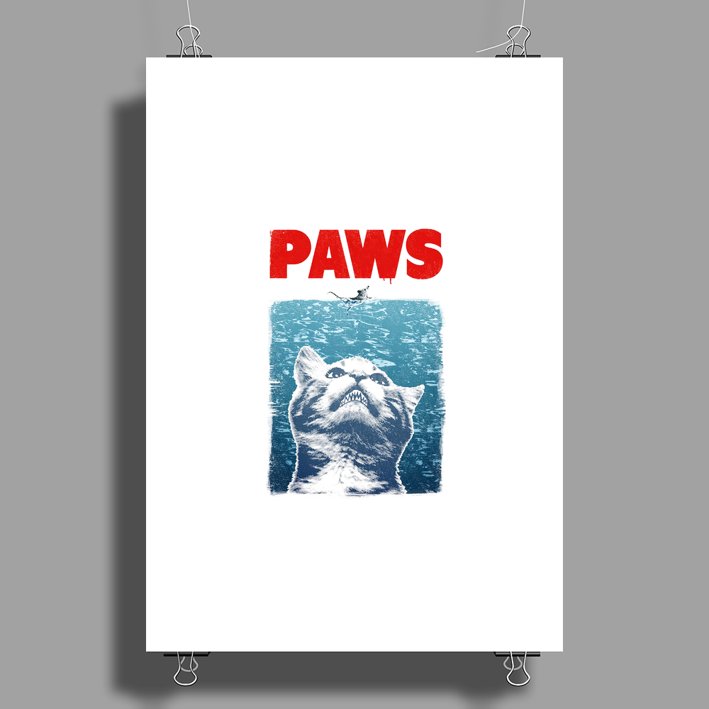 Crazy Cat Meow Paws Jaws Poster Print (Portrait)