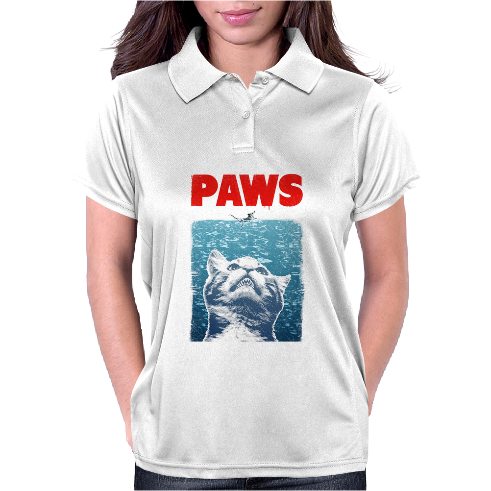 Crazy Cat Meow Paws Jaws Womens Polo
