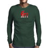 CRAZY FUNNY HUMOUR 911:WHAT IS YOUR EMERGENCY ...I LOVE YOU, HANG UP NO YOU HANG UP FIRST HANG UP! Mens Long Sleeve T-Shirt