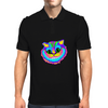 Crazy Smiling Cat Mens Polo