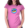 Crazy Smiling Cat Womens Fitted T-Shirt