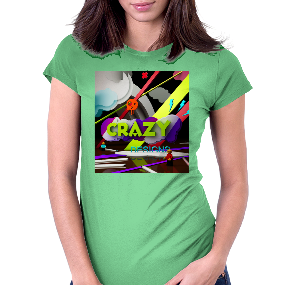 Crazy Womens Fitted T-Shirt