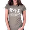 Cream Womens Fitted T-Shirt