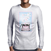 Creative Typewriter with spring cherry blossoms Mens Long Sleeve T-Shirt
