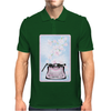 Creative Typewriter with spring cherry blossoms Mens Polo