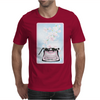 Creative Typewriter with spring cherry blossoms Mens T-Shirt