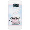 Creative Typewriter with spring cherry blossoms Phone Case