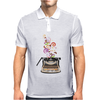 Creativity by retro typewriter Mens Polo