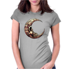 Crescent Skull Womens Fitted T-Shirt