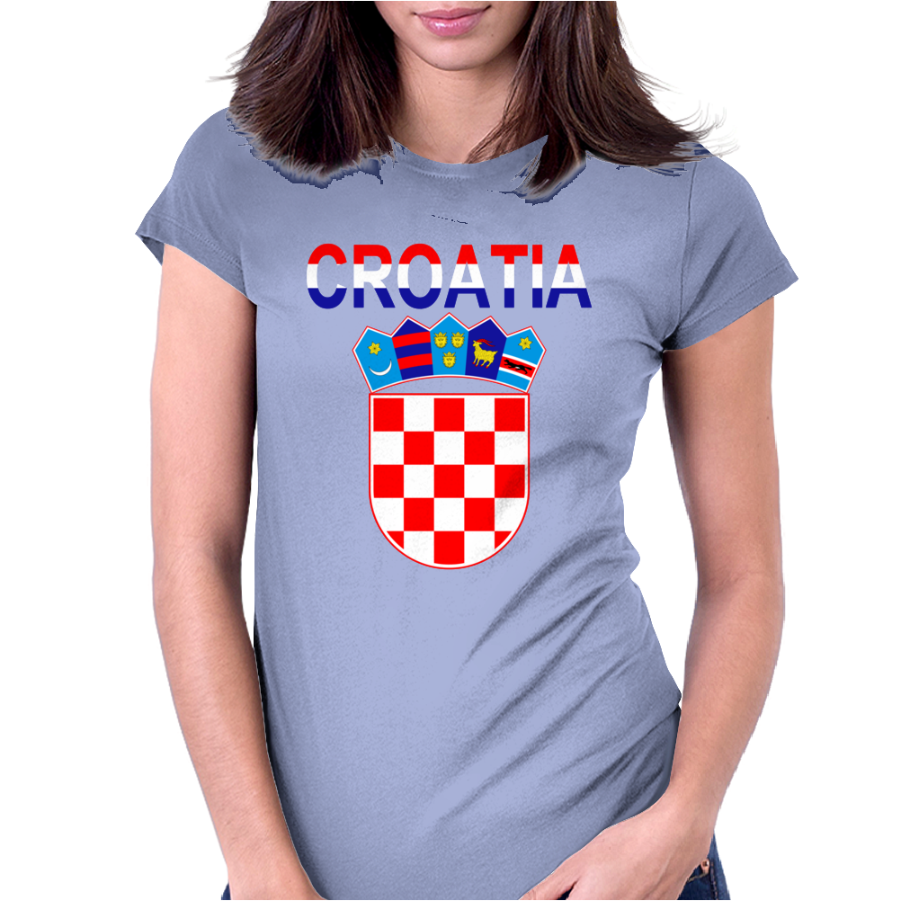 Croatia Coat Of Arms Womens Fitted T-Shirt