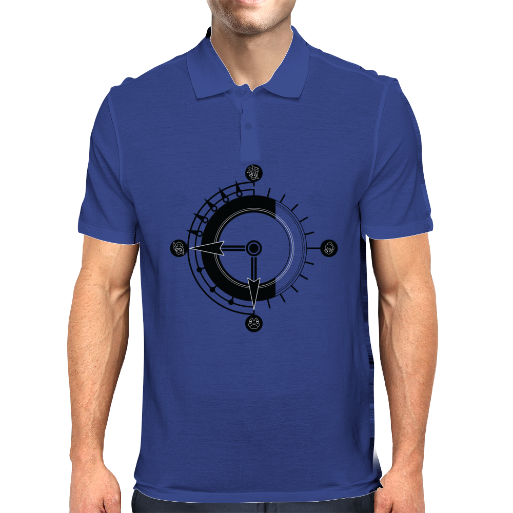Crono Trigger Time Clock Mens Polo