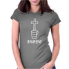 Cross & Hand Womens Fitted T-Shirt