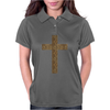Cross Printed Leopard Womens Polo
