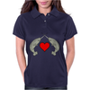 Crossed Horns Narwhal and a Red Heart Womens Polo