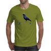 Crow on a Longboard Mens T-Shirt
