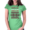 Crush A Bit Ugly Sweater Womens Fitted T-Shirt