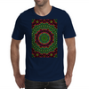Curly Green and Pink Rainbow Kaleidoscope Mens T-Shirt