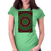 Curly Green and Pink Rainbow Kaleidoscope Womens Fitted T-Shirt