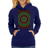 Curly Green and Pink Rainbow Kaleidoscope Womens Hoodie