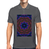 Curly Purple Kaleidoscope Mens Polo