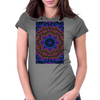 Curly Purple Kaleidoscope Womens Fitted T-Shirt