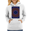 Curly Purple Kaleidoscope Womens Hoodie