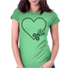 Cut Your Heart Out Womens Fitted T-Shirt