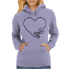 Cut Your Heart Out Womens Hoodie