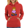 Cute Awesome Little Girl Holding Her Orange Tiger Cat Kitten Womens Hoodie