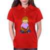 Cute Awesome Little Girl Holding Her Orange Tiger Cat Kitten Womens Polo