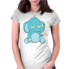 Cute Baby Elephant Womens Fitted T-Shirt