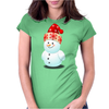 Cute Baby Snowman Womens Fitted T-Shirt