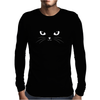 Cute Black Cat Mens Long Sleeve T-Shirt